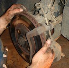 Changing a brake rotor