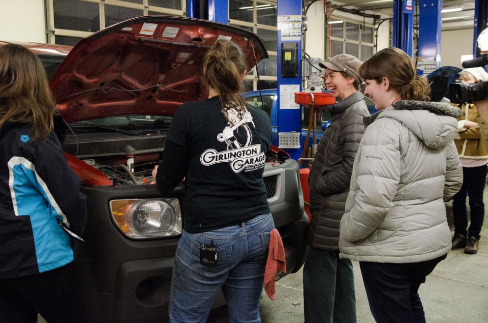Vermont PBS Car Care class photo shoot